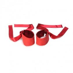 Lelo Etherea zijden handboeien rood