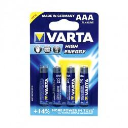 Varta AAA Batterijen 4 stuks